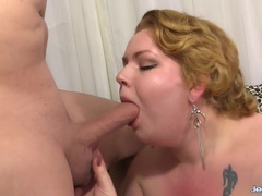 Big BBW shows her fat and filled with cock