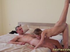 Contortion sex with my real flexi girlfriend