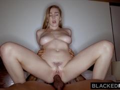 BLACKEDRAW Cheating girlfriend loves her muscular big black lover