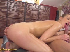 Alexis Crystal gives big cock slippery sesh