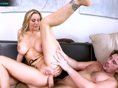 Julia Ann getting her hole stretched