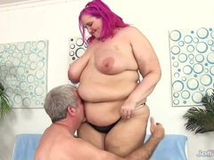 Hot Plumper Slams Her Pussy Down on a Cock