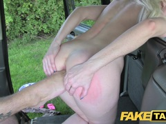 Fake Taxi Golden shower for hot lady before anal