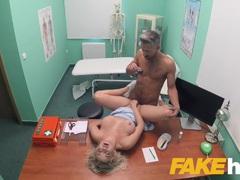 Fake Hospital fucking gives blonde big tits Brit