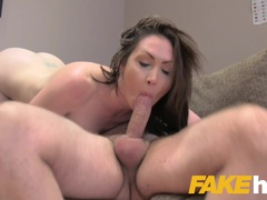 Sexy Yasmin Scott eats agents cum