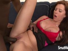 Sexy Redhead takes Morgan Blanchette big black dick