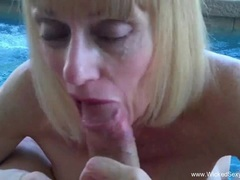 Hot Wet Blowjob From Granny