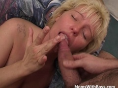 Hot Mama In Fishnet Stockings Double Teamed