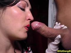 Busty nurse big cock anal gangbanging