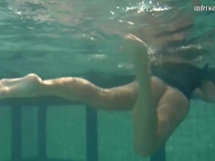 Blonde Feher with big firm tits submerged