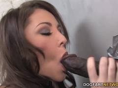Busty Hailey Brooke Gags On Black Cock Gloryhole