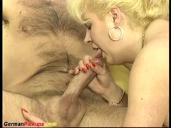 German BBW mom picked up for first anal fucking