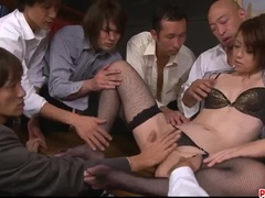 Maki Hojo tries more than one cock in serious fuck