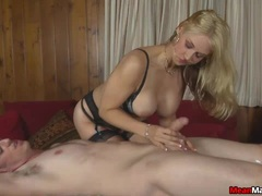 Client Visits The Sexy Blonde Masseuse