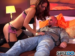Spizoo Sexy Jasmine Caro is punished by a big shaft