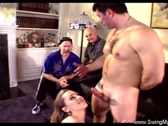 Husbands Commands Wife To Swing with Hot Cock