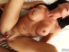 Anal Fucking a Busty Nympho Cougar POV fucking