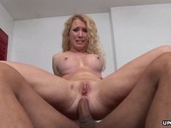Blonde with fake boobs ass fucked thoroughly