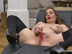 Femorg MILF with Big Naturals Solo Orgasm