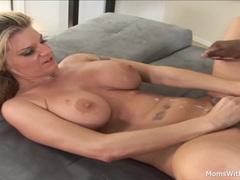 Busty Blonde MILF Kayla Quinn Fucks Black Cock