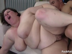 Huge BBW Big Tits Showered With Sticky Cum