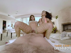 Threesome with Hot Babes Abella and Keisha