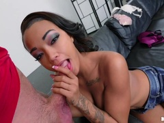 Kinky Harley Green gets her ebony pussyhole banged balls deep