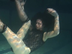 Polcharova enjoying underwater swimming