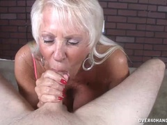 Old Milf Loves His Big Load In Her Mouth