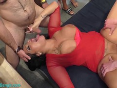 German Milf Ashley Cumstar extreme groupsex