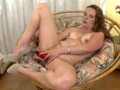 Horny housewife fingering her hot hole