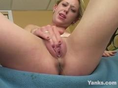 Yanks Blonde Hottie Gwenaver Wets the Bed