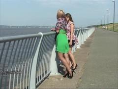 High heeled babes make shoe fetish hard in hot nylons