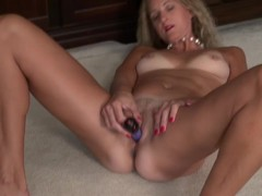 American housewife fingering herself in the study alone