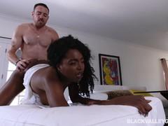 Hot Daya Knight rides a huge cock
