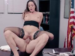 Secretary Abigail Mac fucks her horny boss