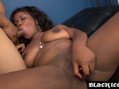 Big booty ebony doggy styled by big black cock