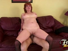 Mature Calliste Gets Jizz On Her Tits