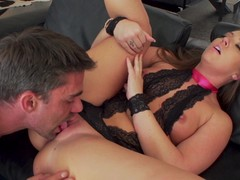 Cute Maddy OReilly facial after deep anal