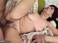 21Sextreme Sensual Granny Takes a Cumload on her Box