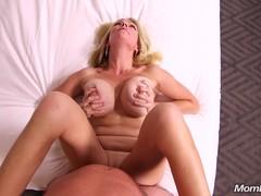 Horny Blonde MILF Sucks and Fucks Your Dick