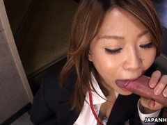 Asian gobbles up the dick that made her wet