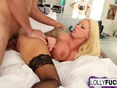 Blonde Lolly Ink Teasing and fucking in the bedroom