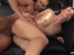 She gets plowed in a sweet hot pussy