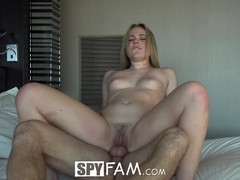 SpyFam Step sister Alyssa Cole begs for aggressive sex