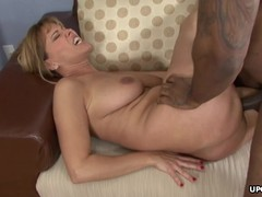 Busty cougar getting fucked with a BBC