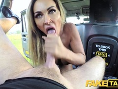 Fake Taxi Mature busty milf licks arse and empties balls