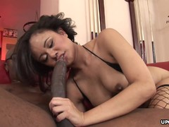 Annie getting spunked in her ass with a nice BBC