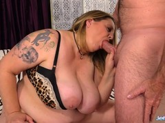 Fat Honey Diddles Herself Sucks Cock