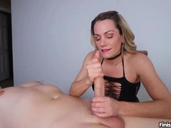 Milf Talks Dirty Offering Skillful Hands On Cockpole
